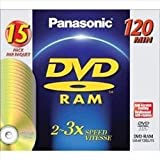 Panasonic DVD-RAM 4.7GB, 3X Speed DVD discs - Pack 15