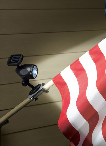 Flagpole Solar Lights A Practical Solution Funk This House