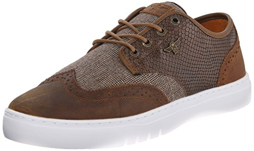 Creative Recreation Men's Defeo Q Oxford, Brown/Reptile/Vintage, 10 M US