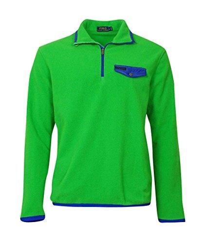 Polo Ralph Lauren Men's Fleece Pullover Jacket [S] [Green Blue]