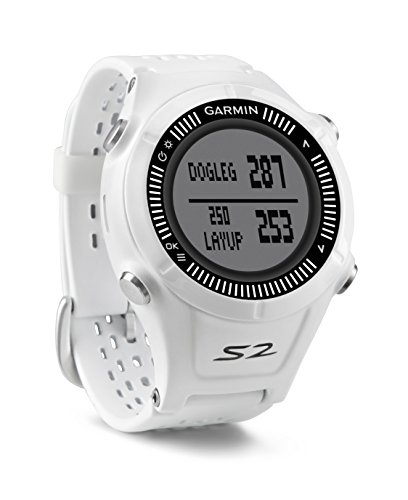 Garmin Approach S2 - Reloj con pulsómetro para golf, color blanco