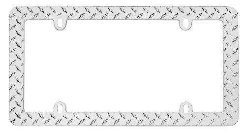 Cruiser Accessories 30830 Diamond Plate, Chrome License Plate Frame (Diamond Plate License Plate Frame compare prices)