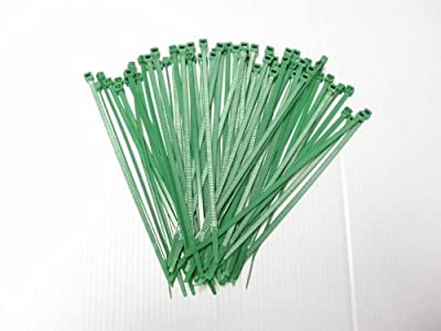 "Joy Fish 8"" Heavy Duty Nylon Cable Ties, 50 lb Test, 100 PC, Green"