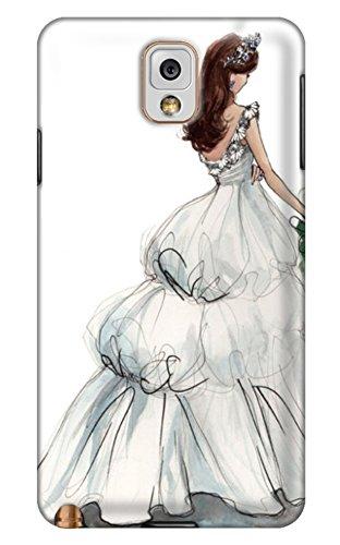 Online Designs Illustration Of Happy Bride Wearing A Wedding Dress Pc Hard New Unique Note 3 Case