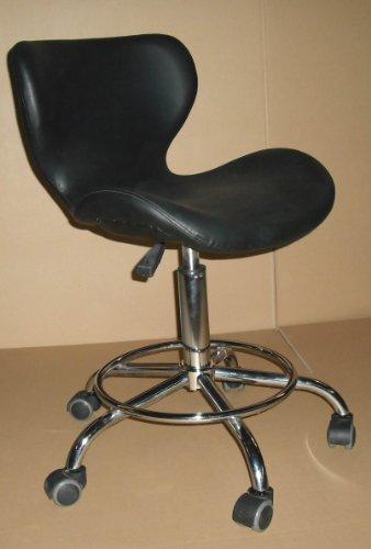 Healthline Adjustable Bar Office Beauty Massage Stool Facial Salon SPA Tattoo Gas Lift Chair Black
