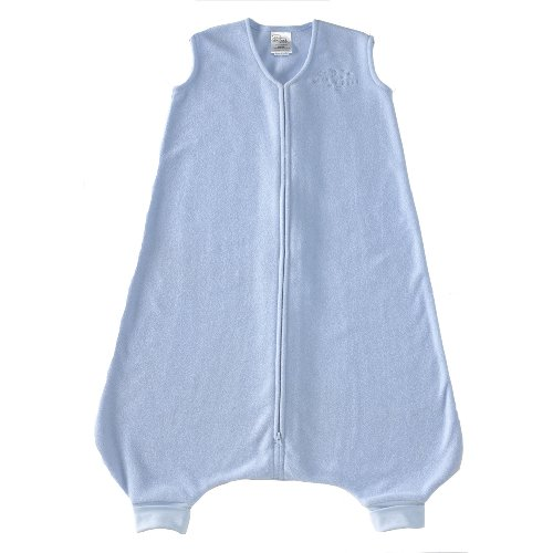 Halo Innovations Early Walker SleepSack Wearable Blanket Micro Fleece, Baby Blue, XLarge