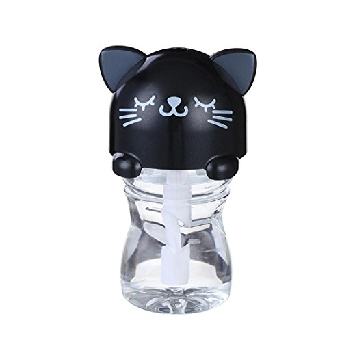 Hatop Sweet USB Mini Cartoon Bottle Cap Humidifier Office Air Diffuser (Black) (Japanese Air Humidifier compare prices)