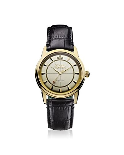Vivienne Westwood Unisex VV064CPBK Grosvenor Black/Gold Stainless Steel Watch