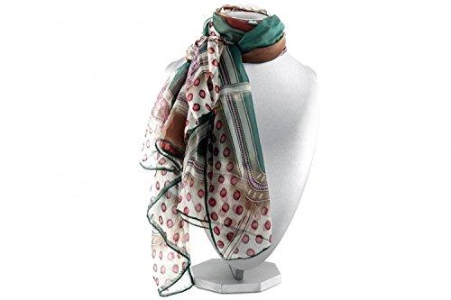 Foulard RONCATO mujer motivos roja Bufanda refinada chiffon L1184