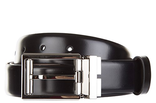 Lanvin cintura uomo pelle originale accorciabile nuova coffret 2 buckles nero EU 110 AM2WCOFVLI6B1