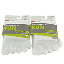 Injinji Unisex Run Original Weight Thin Cushioning Mini Crew Toesocks Bundle ...