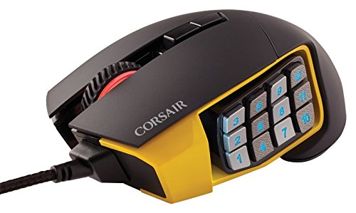 Ratón para Juego Corsair Gaming SCIMITAR para RGB MOBA/MMO, con botones  Key Slider Mechanical, 12000 DPI, multicolor