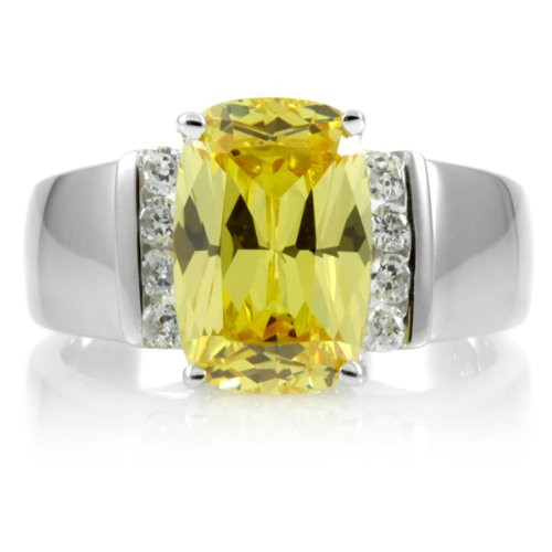 Kathy's 4.24 TCW Canary Antique CZ Diamond Ring