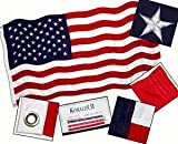 Valley Forge 3-Foot x 5-Foot Nylon Replacement Flag With Sewn Stripes & Embroidered Stars