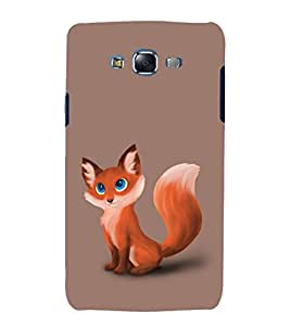 printtech Nature Cute Animal Fox Back Case Cover for Samsung Galaxy J1::Samsung Galaxy J1 J100F