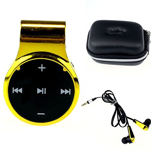 Towallmark(Tm)Fashion Clip-On Sport Bluetooth Headset Stereo For Iphone Samsung (Gold)