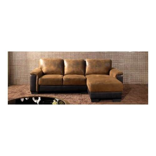 Abbyson appleton brown sectional sofa brown for Amazon ca sectional sofa