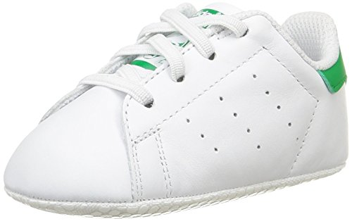 Adidas Stan Smith Crib Scarpe Walking Baby, Unisex bimbo, Multicolore (Ftwwht/Ftwwht/Green), 18