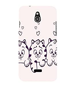 printtech Cute Kitten Back Case Cover for Infocus M2