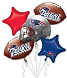 New England Patriots Football Balloon Bouquet- NFL Team Party Supplies Set