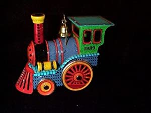 1989 Tin Locomotive #8 Hallmark Keepsake Ornament
