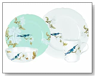 Spode Bone China Nectar Placesetting Dinnerware Set, 4-Piece