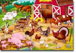 Cheap Learning Tools FLOOR PUZZLE FARM ANIMALS & BABIES (B000BNB0R8)