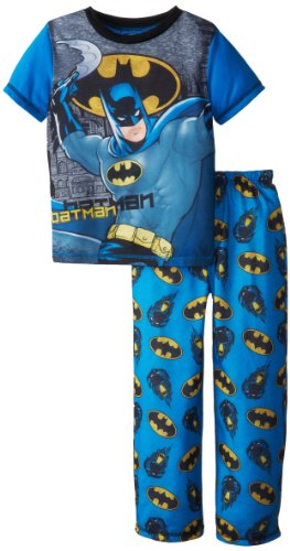 Komar Kids Big Boys' Batman 2 Piece Pant Pajama Set, Blue, Small