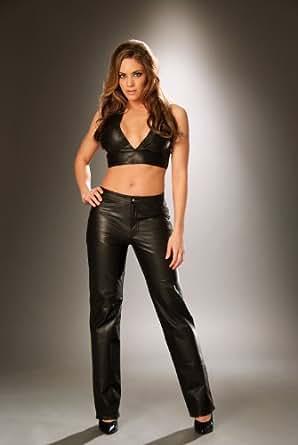 Luxury New Arrival Cargo Pants Women Leather Pants High Waist Trousers Women