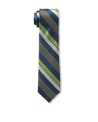 Ben Sherman Men's Wide Stripe Tie, Teal