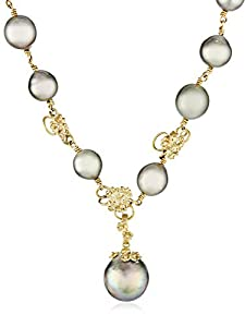 """Vibes """"Fairytale"""" 18 Karat Gold and South Sea Pearl Necklace"""