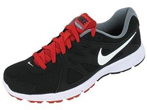 Nike Men's NIKE REVOLUTION 2 RUNNING SHOES 10.5 Men US (BLACK/WHITE/VARSITY RED/CL GRY)