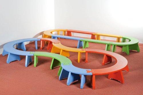 Puzzlebänkchen Set 2 – 4 x Viertelkreisbänke