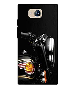 Case Cover Bike Printed Blue Soft Back Cover For LYF WIND 2