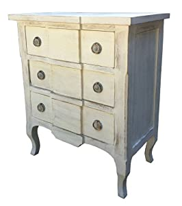 chateau shabby chic french distressed white painted carved