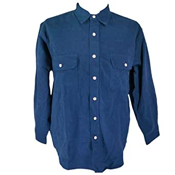 Field stream heavy flannel shirt indigo xxl at amazon for Heavy button down shirts