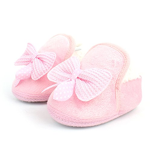 Meily(TM) Pink Baby shoes Walking Toddler Girls Boys Crib Shoes Soft Boots