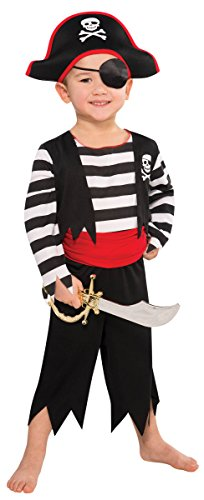 Amscan Children's Rascal Pirate Costume Size Small 4-6