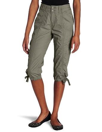 Calvin Klein Performance Women's Crop Cargo Pant, Kelp, Small