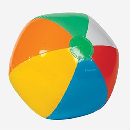 "Inflatable 12"" Rainbow Color Beach Balls (12 Pack) - Colors Varied"