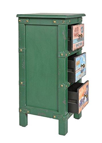Ts Ideen Kommode Nachttisch Schlafzimmer Bad Regal Wohnzimmer Schrank Container Industrie Design Shabby Vintage In Grn