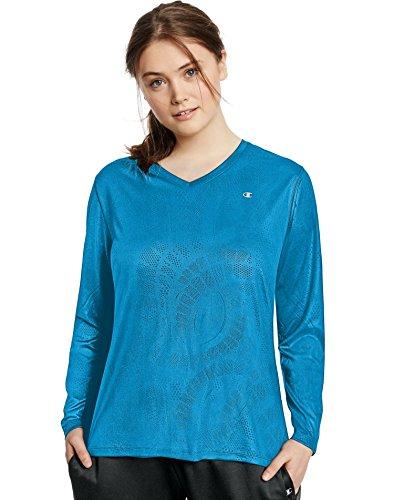 Champion Vapor Training T-Shirt Plus Size, 4X, Underwater Blue