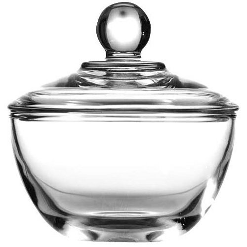 Clear Glass Sugar Bowl with Lid - 8 Ounce (Butter And Sugar Dish compare prices)