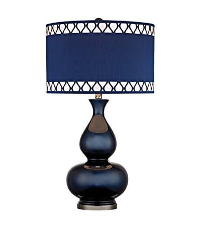 Artistic Lighting Navy Blue Gourd Lamp