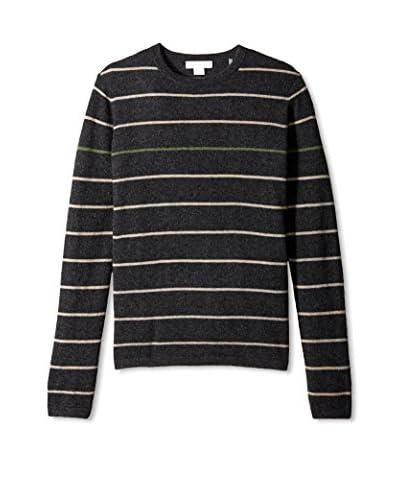 Christopher Fischer Men's Stripe Crew Neck Cashmere Sweater