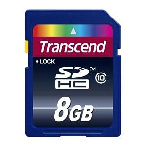 Transcend 8 GB Class SDHC 10 Flash Memory Card TS8GSDHC10E