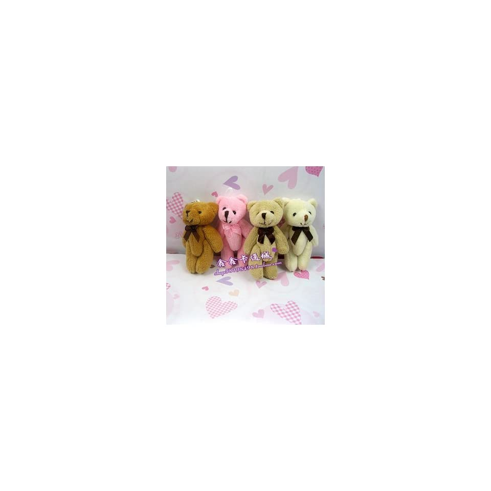 teddy bears stuffed animals plush toys plush 50pcs/lot tinny bear small bears. could use for