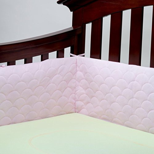 Lifenest Breathable & Padded Mesh Crib Liner - Pink (Breathable Mesh Crib Liner Pink compare prices)