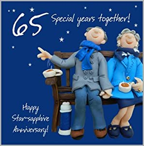 65th Wedding Anniversary Gift For Parents : 65th Wedding Anniversary Card: Amazon.co.uk: Kitchen & Home