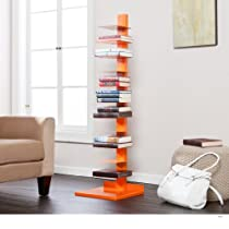 Hein Metal Book/Media Tower / Display Shelves -Orange